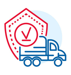 finish truck delivered icon outline style vector image