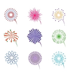 Fireworks display set vector