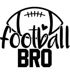 Football bro on white background vector