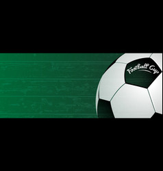 football cup background classic ball on grunge vector image