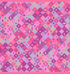 Geometrical mosaic pattern background - abstract vector