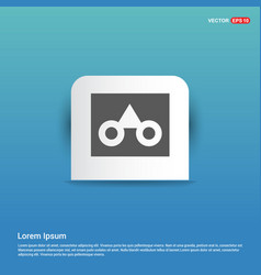 Glasses frame icon - blue sticker button vector