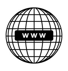 Global communication line icon vector image