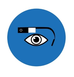 Google glass icon blue circle vector
