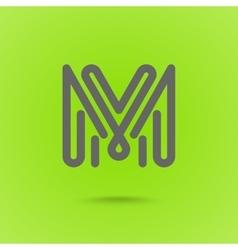 Graphic Line Font Logo Element Letter L vector image