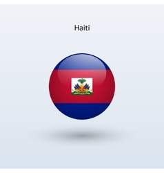 Haiti round flag vector