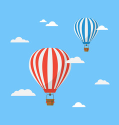 hot air balloons in the sky vector image
