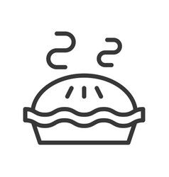Hot pie sweets and dessert outline icon vector