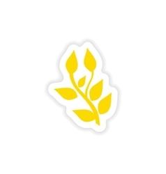 Icon sticker realistic design on paper basil vector
