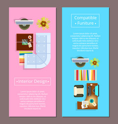 interior design with compatible furniture poster vector image