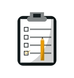Isolated checklist document design vector image