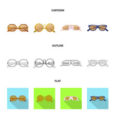 Isolated object of glasses and sunglasses logo vector
