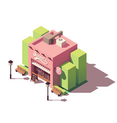 Isometric sweets shop vector