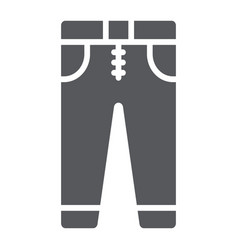 Jeans glyph icon clothes and fashion trousers vector