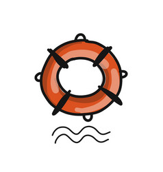 Lifebuoy sketch for your design vector