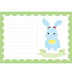 Little Bunny New Born vector