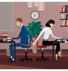 Love affair at work vector