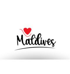 Maldives country text typography logo icon design vector