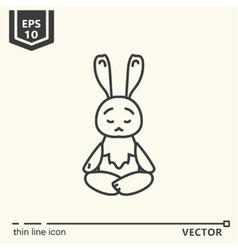 Meditative animals series - hare vector