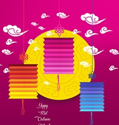 Mid Autumn Lantern Festival background Chinese new vector