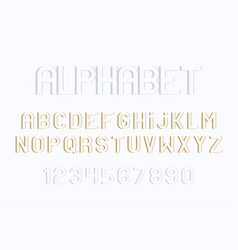 minimal font and alphabet vector image
