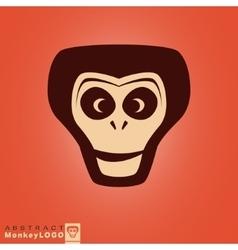 Monkey logo template vector image vector image