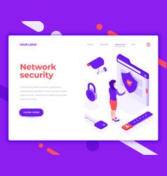 Network security people and interact with folder vector