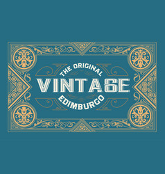 old label design western style vector image
