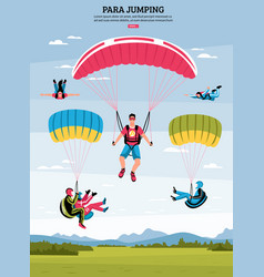 parajumping poster vector image