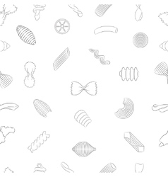 Pasta Seamless Pattern vector image