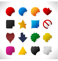 peel sticker corner label tag badge a set peel vector image