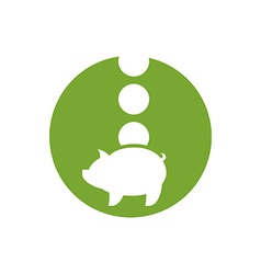 Piggy bank money icon vector