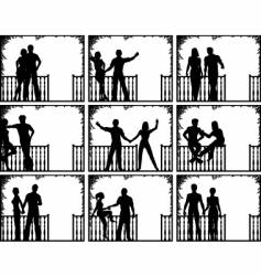 Porch people vector