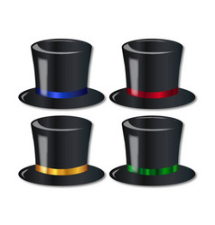 Posh top hats vector