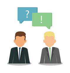 question and answer marks with speech bubbles web vector image