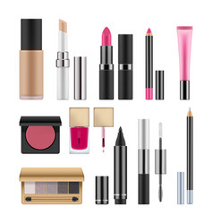 Realistic packages for decorative cosmetics vector
