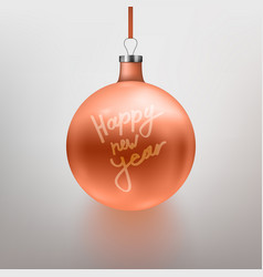 realistic rose gold christmas vector image