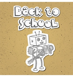 Robot back to school 01 vector