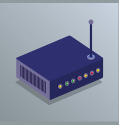 Router device isometric icon vector