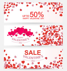 Sale header or banner set with discount offer vector