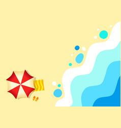 Sandy beach tropical background ocean abstract vector