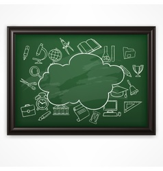 School blackboard green vector