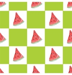 Seamless natural color pattern of watermelon vector