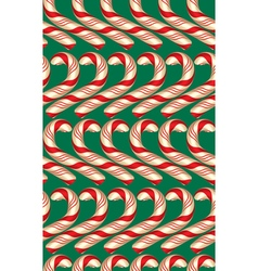 Seamless Pattern with Candy Canes vector image