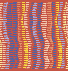 seamless spots and strokes hot colours vector image
