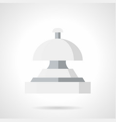 service bell flat color icon vector image