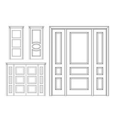 set door technical drawing vector image