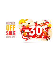 shop now off sale 30 interest discount limited vector image
