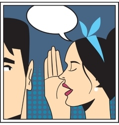 Telling secret pop art vector
