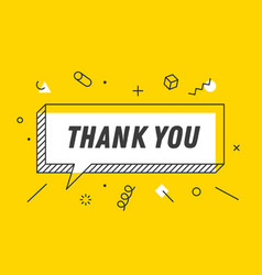 thank you banner speech bubble poster concept vector image